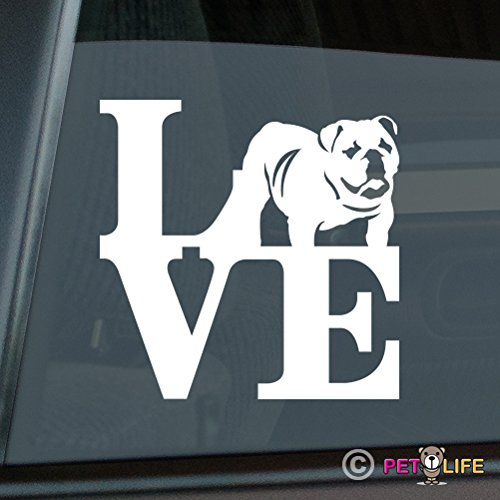 Love English Bulldog Sticker Vinyl Auto Window Sticker Park