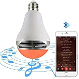 external lightbulb - MagicLight Bluetooth Speaker Bulb - Multicolored Disco Music Party Light Bulb with Wireless Stereo Audio - Dimmable Tunable White Wake Up Lights with Speaker - 50w Equivalent