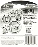 Energizer Ultimate Lithium AA Batteries, Worlds Longest-Lasting  AA Battery, 4 pack