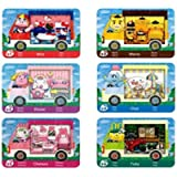 6pcs NFC Cards for Animal Crossing Sanrio NFC Amiibo Cards Collaboration Pack, (Rilla, Marty, étoile, Chai, Chelsea…