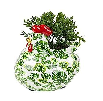 Decoration Poule Cache Pot Pour Plantes Ou Herbes Aromatiques
