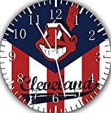 Cleveland Baseball Frameless Borderless Wall Clock F16 Nice For Gift or Room Wall Decor