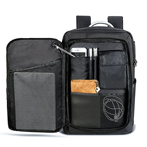 LUKATU Business Laptop Backpack Water Resistant Slim Computer Backpack Insert Organizer Headphone Port College Backpack School Bookbag Daypack 15.6 Inch Computer Women & (Sporty Laptop Backpack)