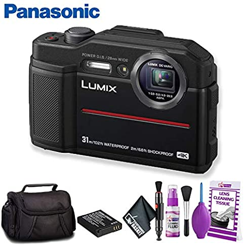 - 51E8 2BtAwRlL - Panasonic Lumix DC-TS7 Digital Camera (Black) Standard Bundle