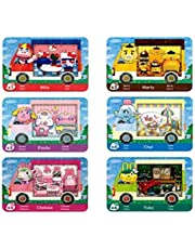 6pcs NFC Cards for Animal Crossing Sanrio NFC Amiibo Cards Collaboration Pack, (Rilla, Marty, étoile, Chai, Chelsea, Toby). Compatible Switch New Horizons