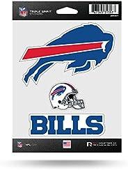 NFL Rico Industries Die Cut 3-Piece Triple Spirit Sticker Sheet, Buffalo Bills , 5 x 7-inches