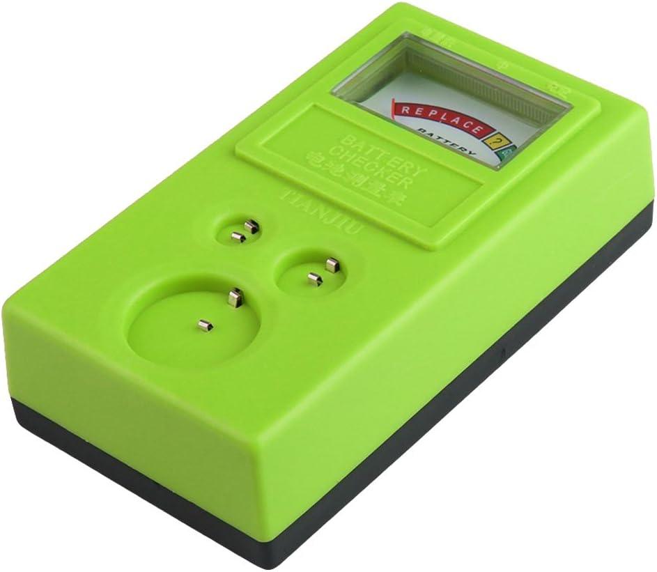 Kamena Testeur de piles bouton 1,55 V et 3 V Vert
