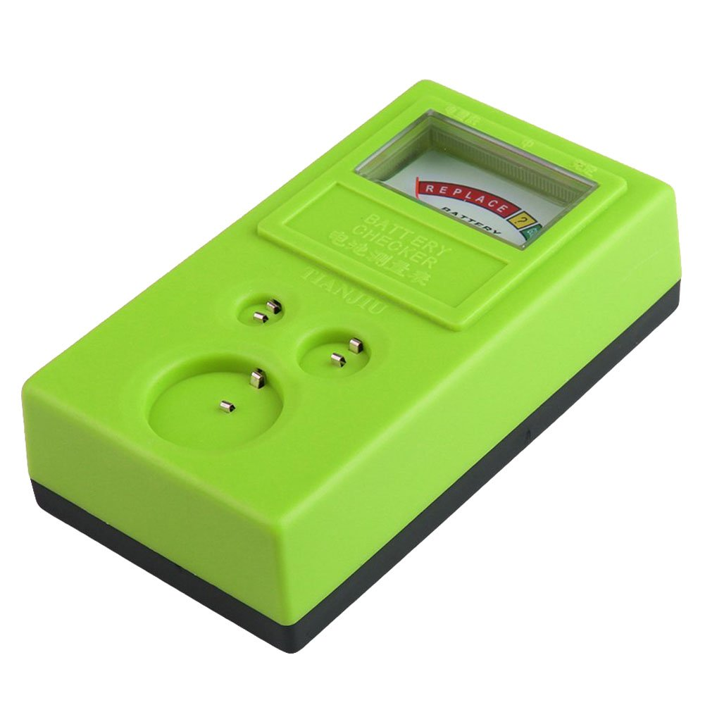 SODIAL(R) 1.55V and 3V Button Cell Battery Checker Battery Tester Green 060414