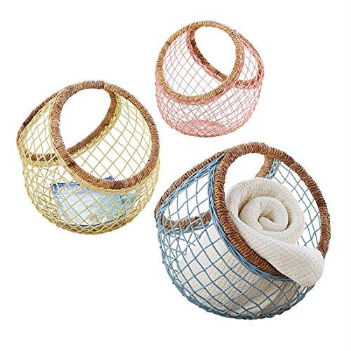 Brylanehome Leo Open-Weave Basket (Blue,0) (Furniture Banana Weave)