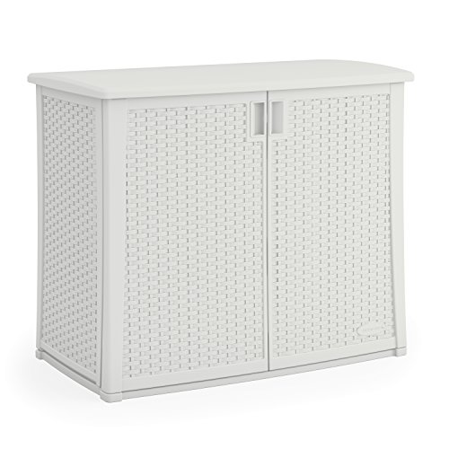 Suncast BMOC4100WD Elements Outdoor 40 Inch Cabinet White Deal (Large Image)