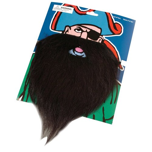 US Toy - Fake Pirate Beard Moustache, (Beard And Mustache Costume)