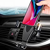 iphone 5 air vent car holder - JAHMAI Car Phone Holder, Air Vent Gravity Sensing Auto Lock Metal Phone Mount Smart No Touch Design One hand Operate for iPhone X/8/7/6s/Plus/5S/Samsung S8/S7/Note and other 4-6 Inch Smartphones