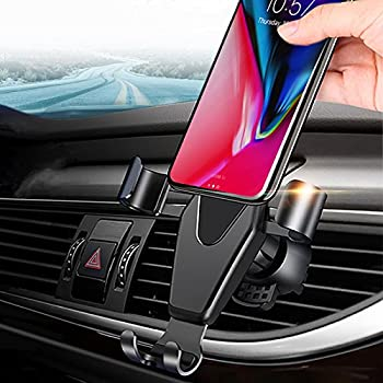 FUTESJ Car Phone Mount Stand, Universal Gravity Phone Holder Air Vent Bracket with Auto Lock Design for for iPhone X/8/7/6s/Plus/5S/Samsung S8/S7/Note and other 4-6.2 Inch Smartphones outlet