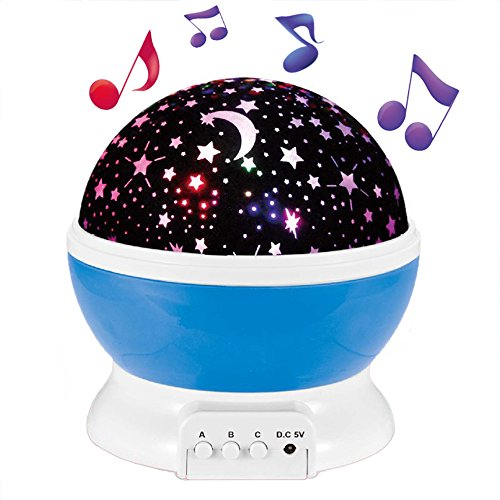 Enkman Upgraded Version Night Light Projector, Baby Sleep Sound Machine, Star Night Light Projector with 12 Music, Room Decor for Infant Kids, Nursery Living Room, Toys for Boys,Girls (Infant Lamp Musical)