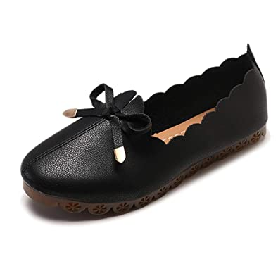 Women Ladies Flat Loafers Slip On Summer Casual Work Comfy Pumps Shoes UK Size