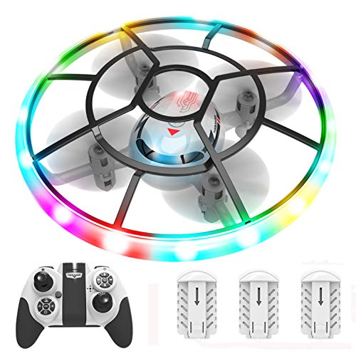 HASAKEE Q7 Mini Drone for Kids,RC Helicopter Quadcopter with Altitude Hold,Neno Light,3 Batteries and Remote Control…
