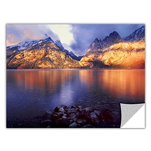 picture of ArtWall Dean Uhlinger 'Jenny Lake Sunrise' Removable Graphic Wall Art, 14 by 18-Inch
