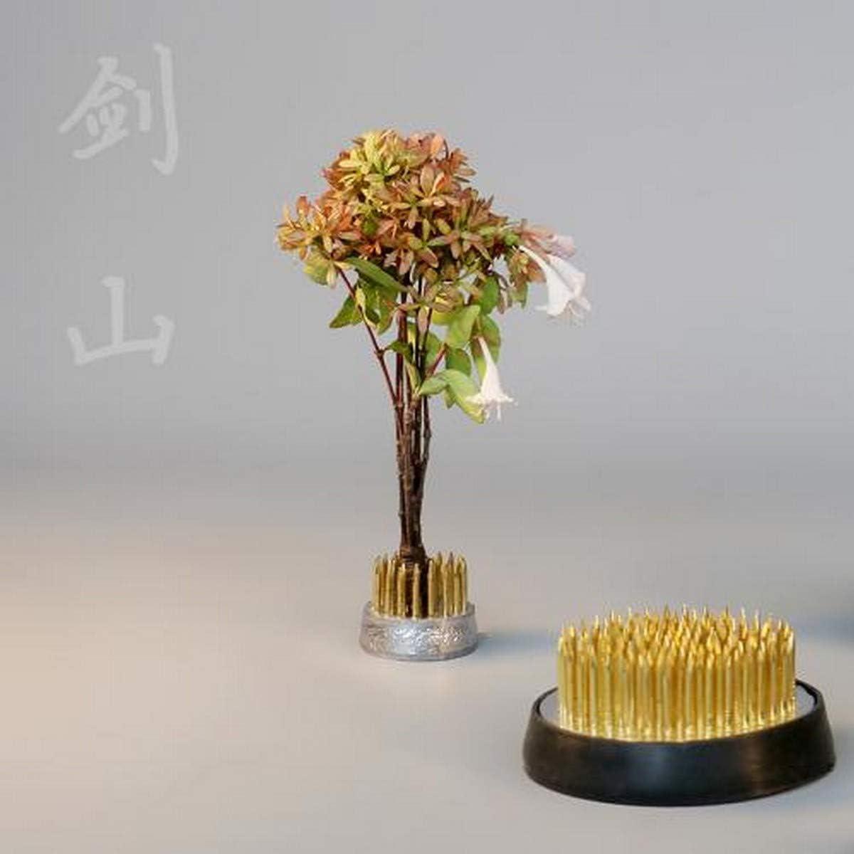 EXCEART 6Pcs Flower Frog Round Holder Japanese Ikebana Kenzan Flower Frog for Flower Arrangement Plant Decoration Plant Fixation