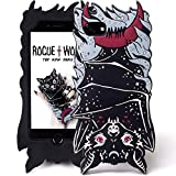 Rogue + Wolf Cute iPhone 6 6s 7 8 Case Kawaii Protective Silicone Phone Cover for Girls Cases Vamp Bat