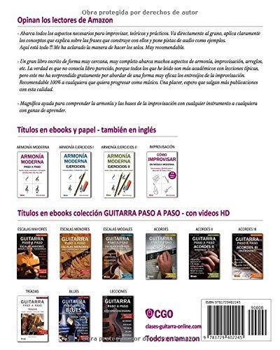 CÓMO IMPROVISAR EN MÚSICA MODERNA: Herramientas y Ejercicios para el desarrollo de Frases y Solos: Amazon.es: Ricky Schneider: Libros