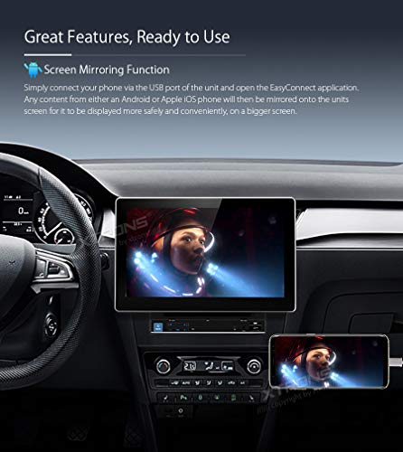 XTRONS 10 1 Inch Double Din Android 8 1 Universal Car Stereo Radio Player  HD Digital Multi-Touch Screen Bluetooth Head Unit Car Radio Multimedia