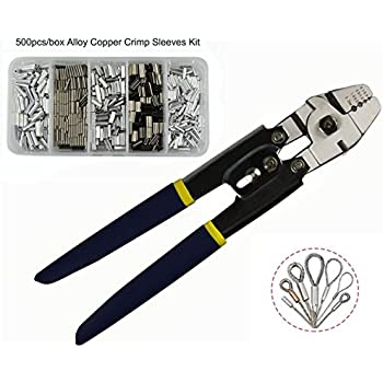 Wire rope swager crimpers fishing crimping tool for copper for Fishing line crimps