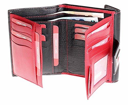 XXL miniportafoglio Portafoglio donna in pelle portafoglio tutti I Top heliobil, nuovo
