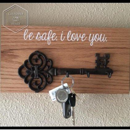 Decorativo da parete by Comfify 7.9 x 4.1 Rust brown rustico in ghisa vintage chiave con 3/ganci da parete portachiavi