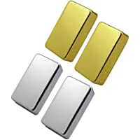 HOMYL 4 Pieces Brass Sealed Humbucker Pickup Covers for Electric Guitar Parts Accessories