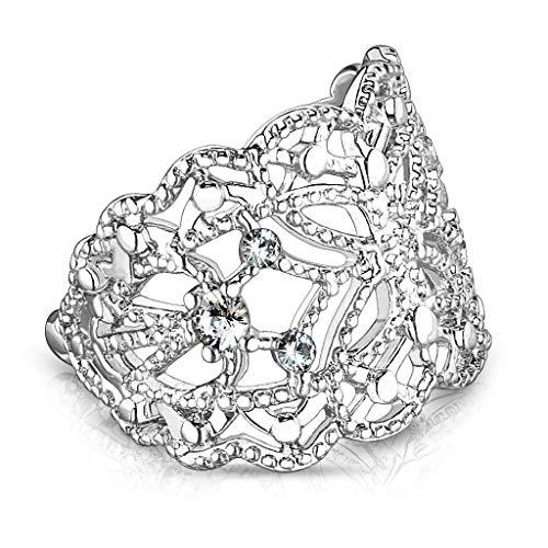 Pierced Earrings Fancy Non - Rhodium Plated Brass Butterfly Ear Cuff Cartilage Earring with CZ Crystal Detail