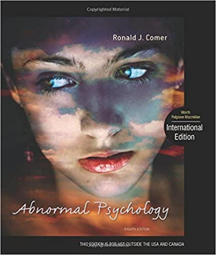 Amazon abnormal psychology 9781429282543 ronald j comer books abnormal psychology eighth edition fandeluxe Gallery