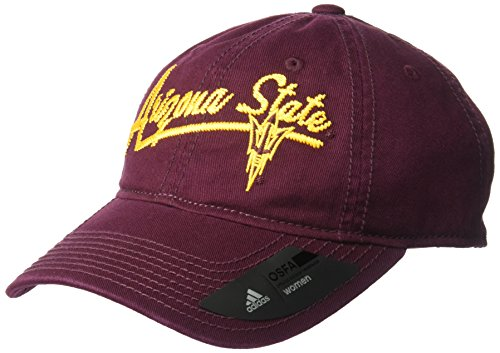 adidas NCAA Arizona State Sun Devils Women's Adjustable Slouch, One Size, (Womens Adjustable Slouch Cap)