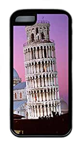 for ipod Touch 4 Case Leaning Tower of Pisa Italy TPU for ipod Touch 4 Case Cover Black