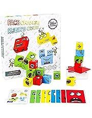 Aidou Houten Uitdrukkingen Bouwstenen Speelgoed Houten Gezicht Emoji Patroon Magic Cube Educatief Speelgoed voor Kinderen