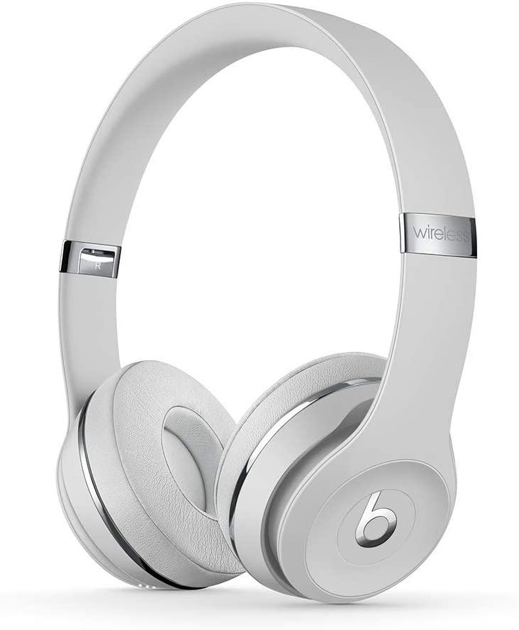 Beats Solo3 Wireless On-Ear Headphones - Satin Silver (Latest Model)