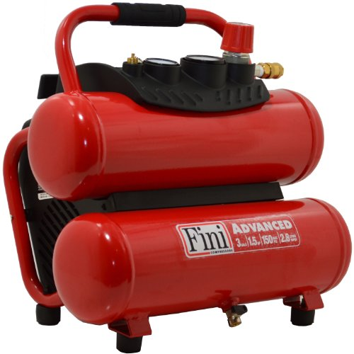 [해외]Fini F3GST 3 갤론 150 PSI 스택 탱크 컴프레서/Fini F3GST 3-Gallon 150 PSI Stack Tank Compressor