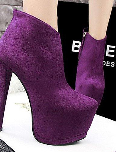 Eu38 Caqui Uk6 Gris Uk5 De Xzz Stiletto Negro Terciopelo us8 Purple Eu39 Cn38 Casual us7 Botas Zapatos Exterior Tacón La Mujer 5 5 Morado A Cn39 Moda Bermellón Khaki 4qn6aqR