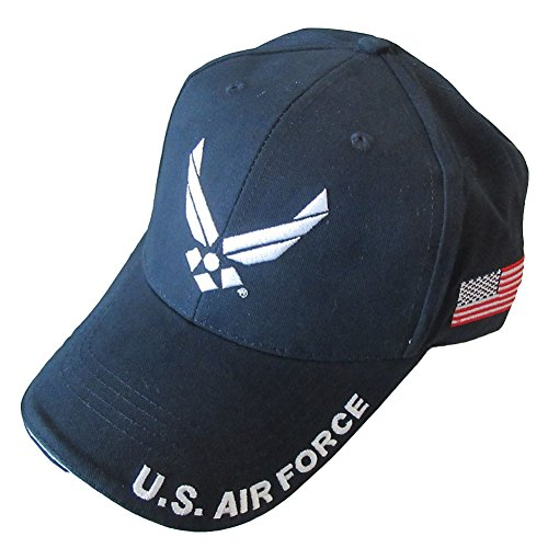Armed Forces Depot U.S. Air Force With U.S. Flag Baseball Cap. Navy Blue ()