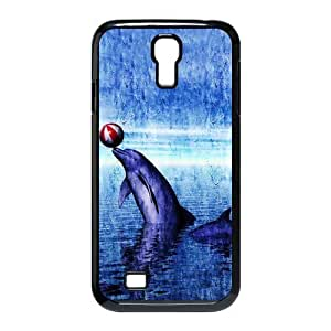 Personalized Aesthetic Samsung Galaxy S4 I9500 Hard Case Cover with Cute Dolphin Patterned Sunset Ocean Sea Case Perfect as Christmas gift(4)