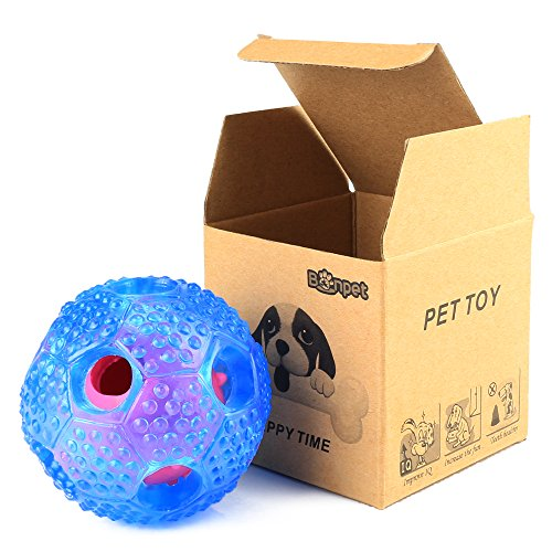 KAOSITONG Dog Chew Toy – IQ Treat Ball Food Dispensing Interactive Toys for Small Medium Large Dogs – Nontoxic Rubber and Bouncy Durable Chew Ball – Cleans Teeth(Pack of 2) For Sale
