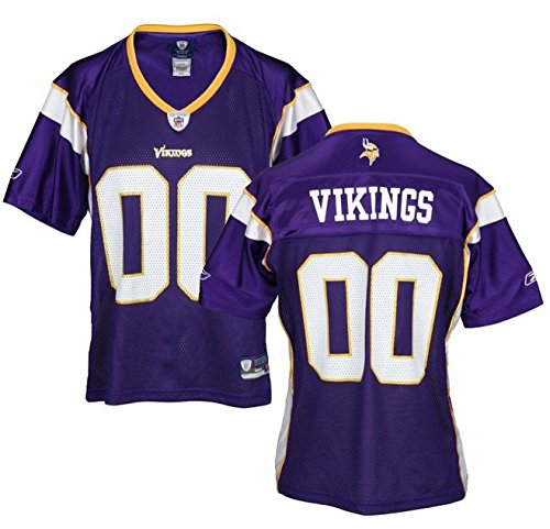 Minnesota Vikings NFL Womens Team Replica Jersey, Purple (Large, Purple)