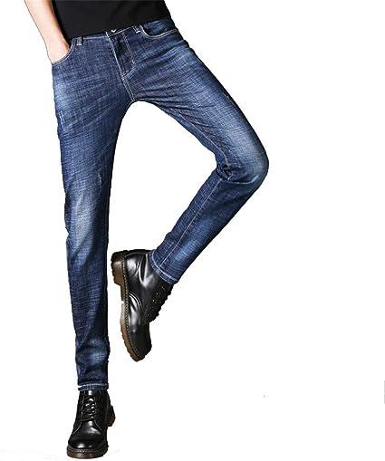 Yaxuan 2019 Otono Invierno Hombres Jeans Pantalones Ropa De Hombre Calidad Stretch Jean Jeans Pantalones De Mezclilla Lavados Rayados Hombre A 31 Amazon Com Mx Jardin