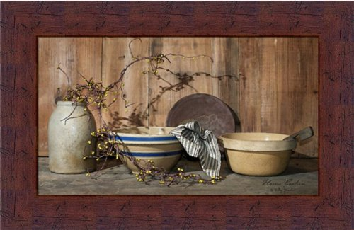 Home Cooking by Billy Jacobs Primitive Antique Crocks 12x...