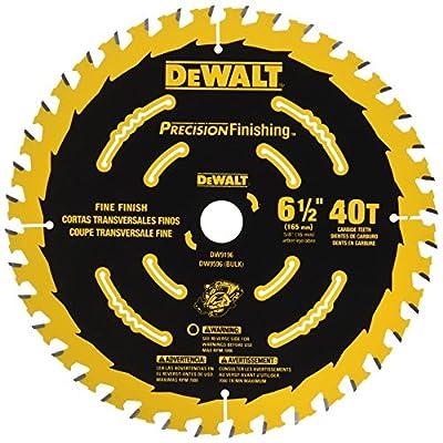 DEWALT DW9196 6-1/2-Inch 40T Cutting Precision Finishing Saw Blade from DEWALT