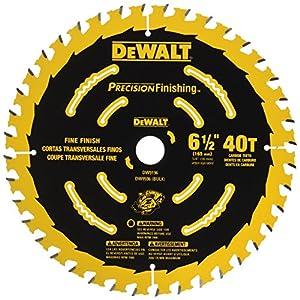 DEWALT DW9196 6-1/2-Inch 40T Cutting Precision Finishing Saw Blade