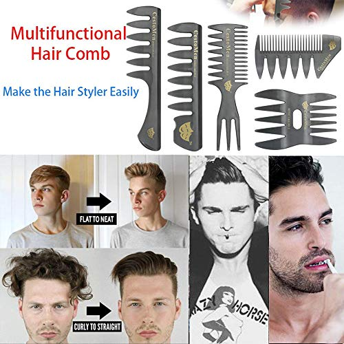 Hair Styling Comb, Elevin(TM) New 5PCS Set Hair Comb For Men Hair Styler Insert Hair Pick Comb Show Wide Tooth from Elevin(TM) _ Health & Beauty