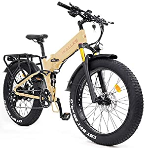 Wallke X3 Pro26-inch Upgrade The Frame Fat Tire Electric Bicycle 48V14AH Battery Adult Auxiliary Bike 750W Mountain Snow E-Bike