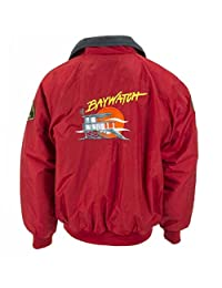 Baywatch Lifeguard Red Bomber Jacket