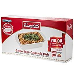 Campbell's Stoneware Green Bean Casserole Dish w/ Recipe 1.5 Qt Oven to Table