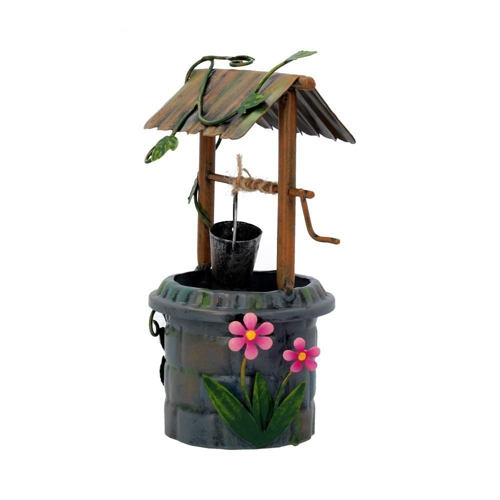 Brown /& Ginger Marron et Le Jardin Secret de Gingembre F/ée D/écorations peintes /à la Main Miniature D/écorations de Jardin en m/étal Fairy Door